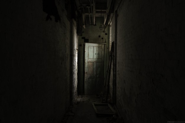 Room B24 in the basement of an abandoned psychiatric hospital. I'm told that the seclusion rooms were in the basement of this hospital.
