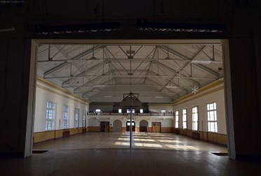Ontario Abandoned Psychiatric Hospital Rec Hall Stage s