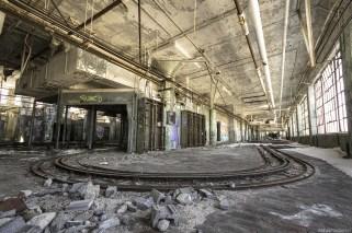 An abadoned detroit automotive factory.