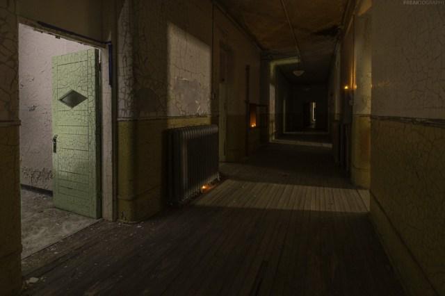 insane asylum hallway abandoned