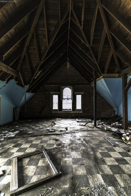 In the attic of an abandoned church