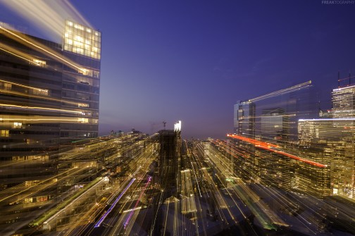Warp speed from a downtown toronto rooftop
