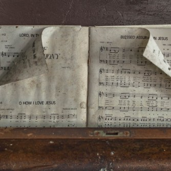 Sheet Music in Abandoned Church