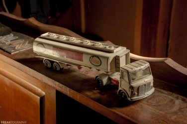 Toy Gas Tanker in Abandoned House