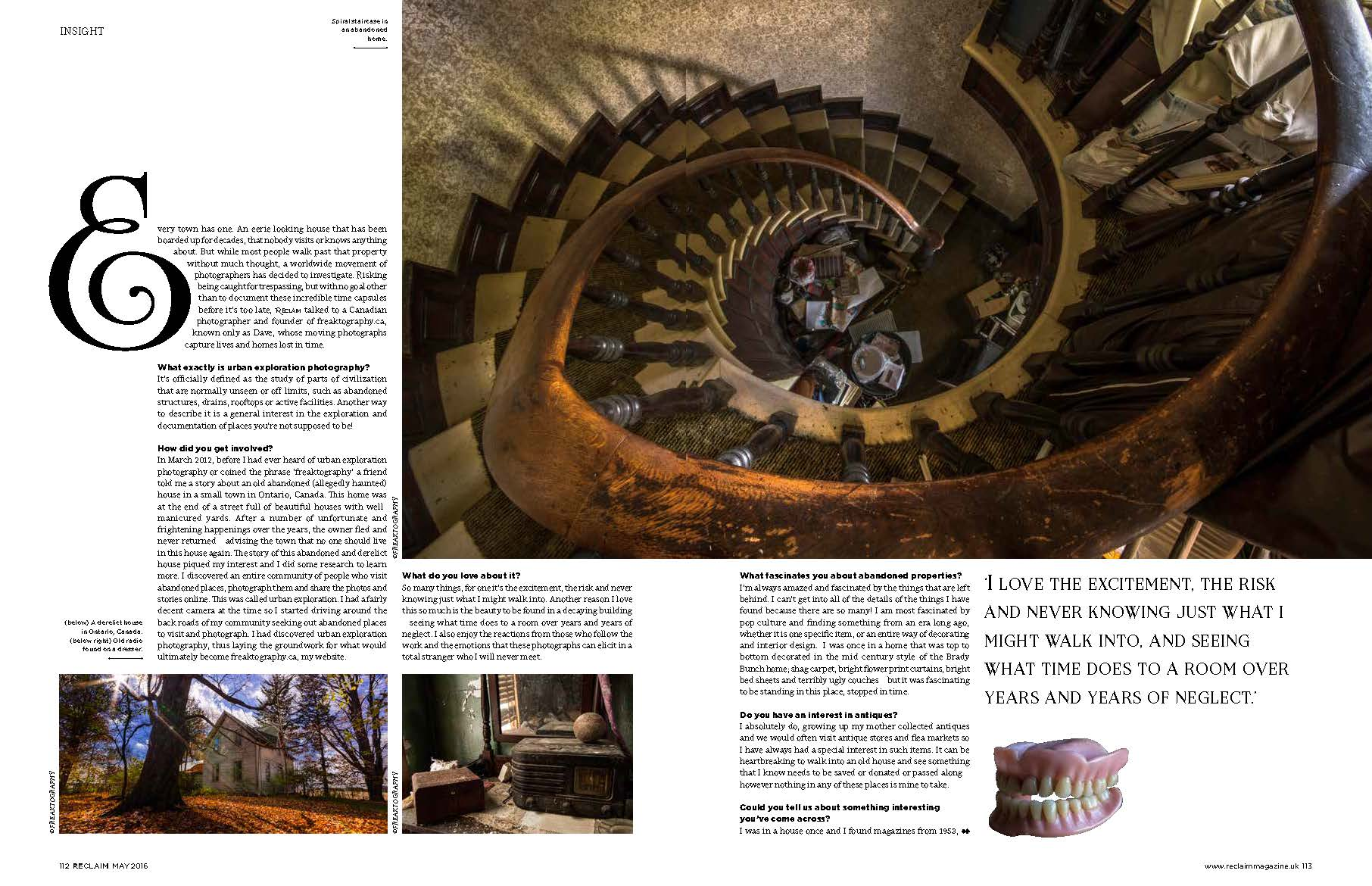 Freaktography in reclaim magaziine