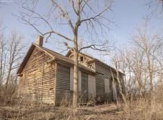 abandoned ontario house at sunrise