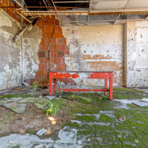 Abandoned Detroit High School
