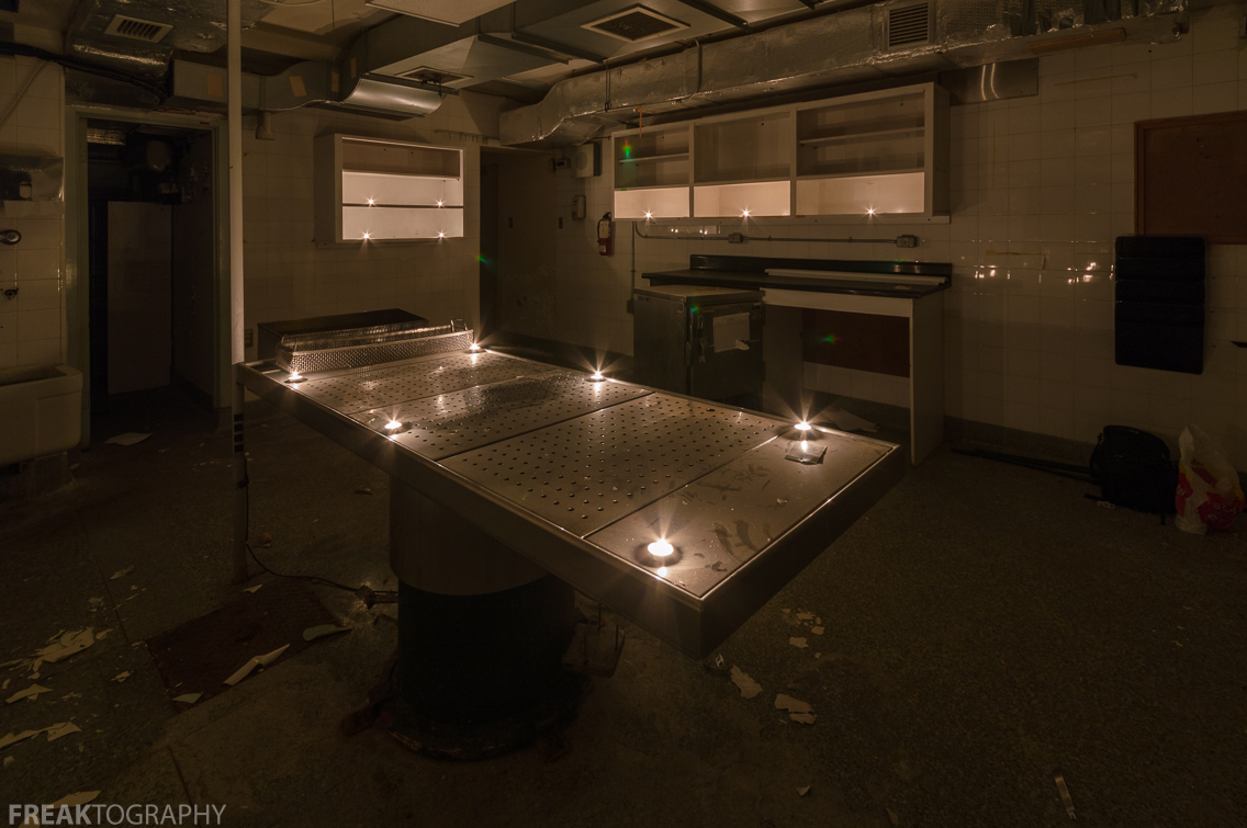 Freaktography Abandoned Photography Places Creepy Decay Derelict Tea Lights In Hospital Autopsy Room