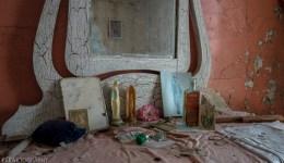 Freaktography, abandoned, abandoned photography, abandoned places, creepy, decay, derelict, dresser, haunted, haunted places, mirror, paint, photography, religion, religious, urban exploration, urban exploration photography, urban explorer, urban exploring