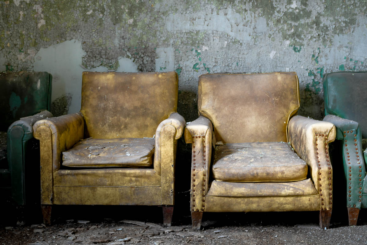 Abandoned Mental Asylum Lonely Chairs
