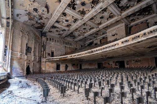 abandoned detroit cooley high school auditorium right