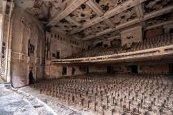 abandoned detroit cooley high school auditorium seats