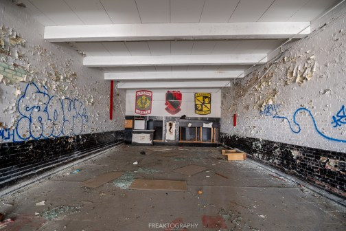 abandoned detroit cooley high school firing range