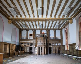 abandoned detroit cooley high school library square