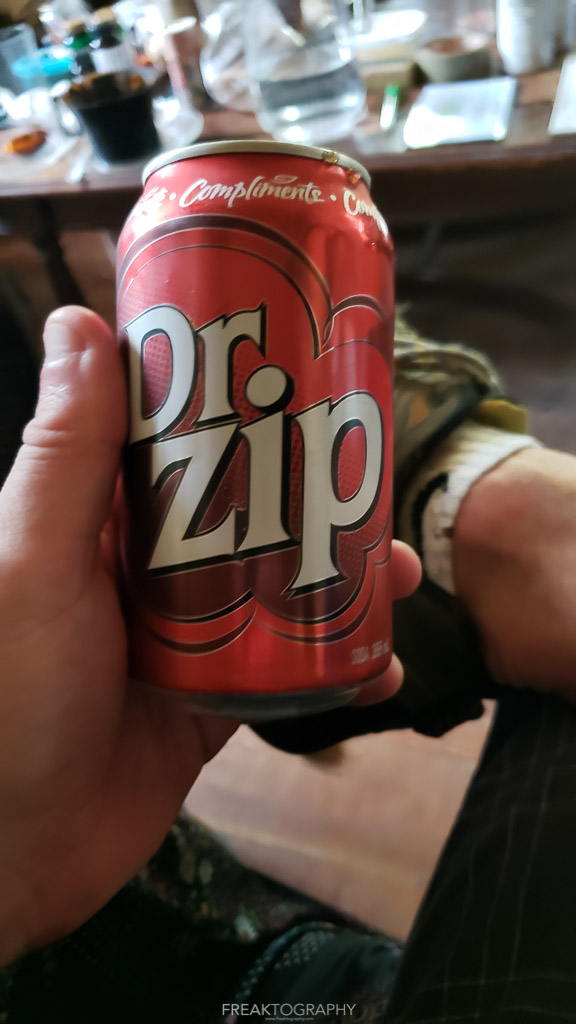 dr zip drink with bruce beach at ark two shelter
