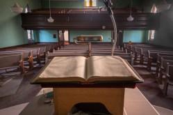 Historic Abandoned Ontario Church Bible