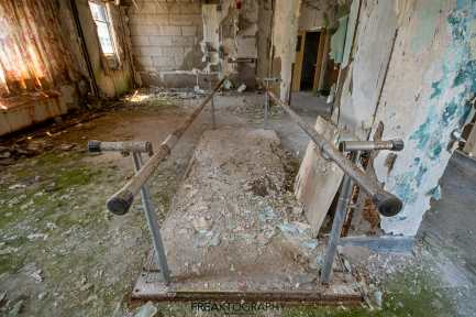 Abandoned Parry Sound Hospital Walking Rails
