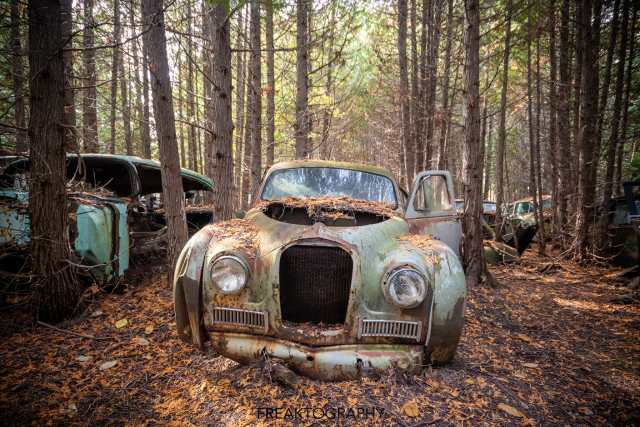 mcleans auto wreckers car graveyard   abandoned cars