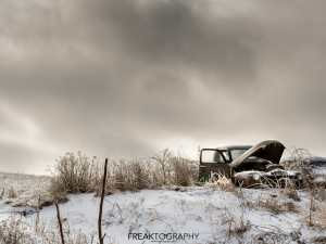 Old GMC Truck Winter Scene