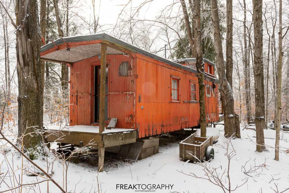 abandoned cn rail caboose