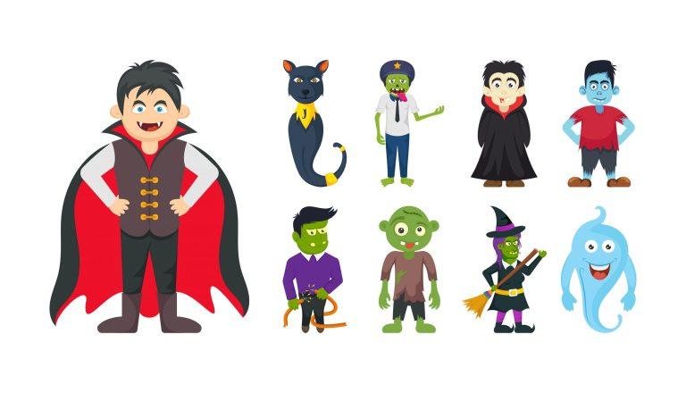 Download Halloween Fee Vector Character Set
