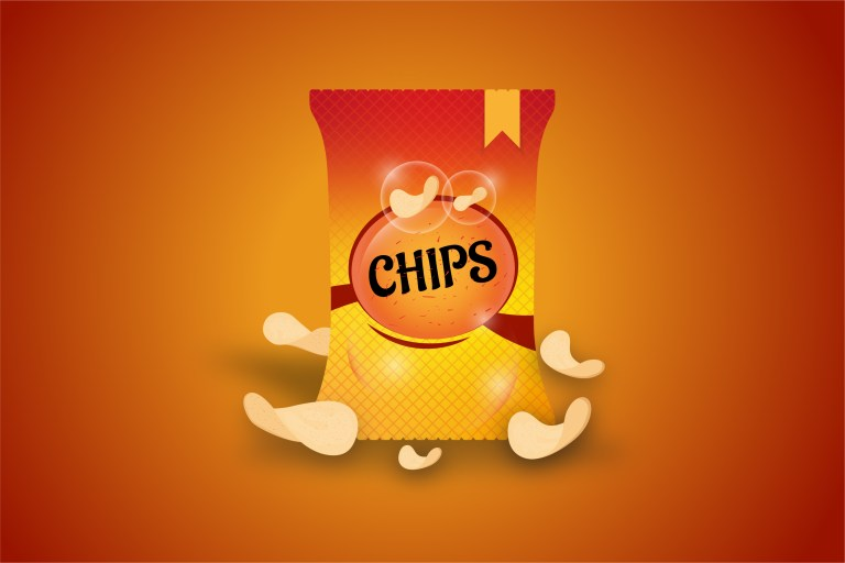 Potato Chips Vector Free Download