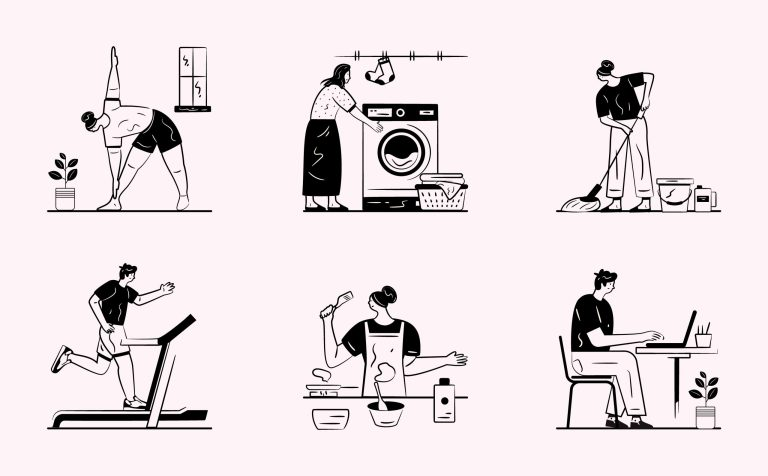 Free Daily Routine Vectors Download