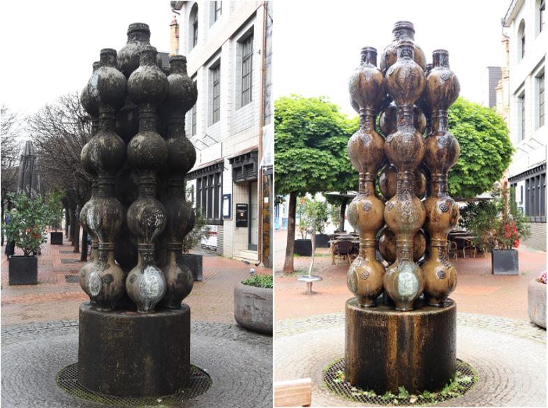 Bartmannbrunnen Zustandsvergleich