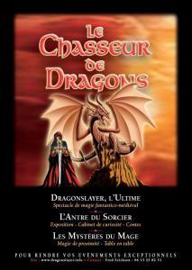 Animation et spectacle de magie médiévale avec le chasseur de dragons et le spectacle … <a href=