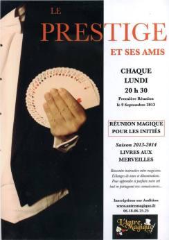 le prestige et ses amis le nouveau club de magie parisien