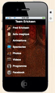 application mobile fred ericksen