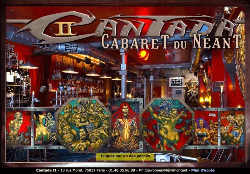 """Cantada II """"Bar qui change de certains bars pseudo metalleux goth plutôt prétentieux .. ambiance sombre et artistique ,et bonne programmation"""