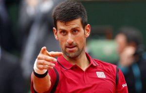 Novak Djokovic lors de la 8eme finale 1er juin 2016