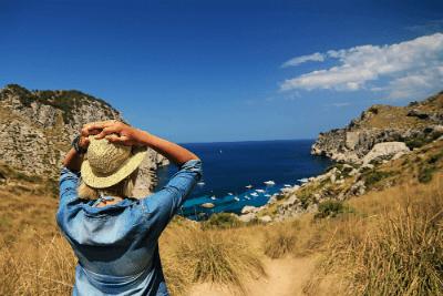 Woman Having a Vacation