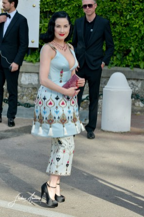 Dita Von Teese at AmfAR's 22nd Cinema Against AIDS Gala, Presented By Bold Films And Harry Winston at Hotel du Cap-Eden-Roc on May 21, 2015 in Cap d'Antibes, France.