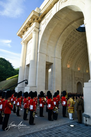 Commemoration in Menin. Duke and Duchess of Cambridge William and Kate, King Philippe and Queen Mathilde and Prime Minister Theresa May will attend the last Post Ceremony at the Commonwealth War Graves Commission Ypres (Menin Gate) Memorial in Belgium F. Andrieu/AgencePeps/Reporters