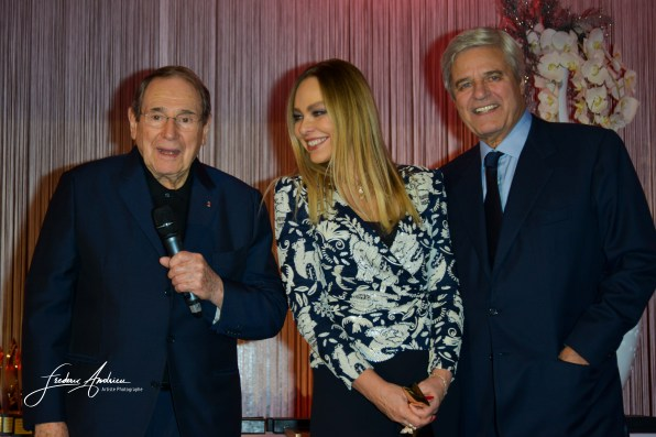"Robert Hossein, Ornella Muti and Jean Sorel during Prices ""The Best"" of Massimo Gargia in Salons Hoche in Paris. Paris, 10th december 2015, France"