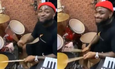 Davido Shows Off Drumming Skills At A Church In Asaba