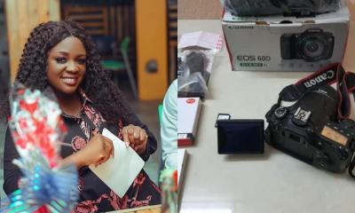 , Kindness: Tracey Boakye finally buys a camera for a blogger who keeps tagging her, Frederick Nuetei