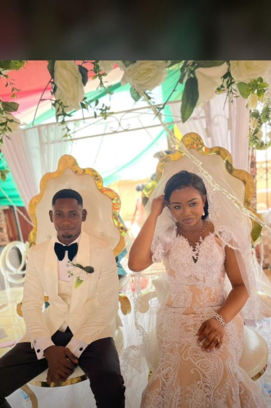 , Agbenaaa!: Exclusive photos and videos from Richard Agu And Benedicta's wedding, Frederick Nuetei