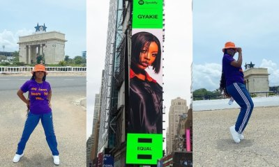 , Billboard of Gyakie appears in New York City; Ghanaians excited, Frederick Nuetei