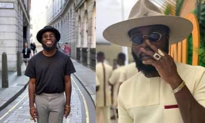 , Manifest shows off his all-grown look-alike son in family photo, Frederick Nuetei