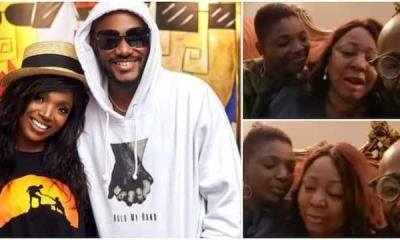 , No War in Their Home: Senator Ita-Giwa gushes over 2baba and Annie as they show up at her house for dinner, Frederick Nuetei