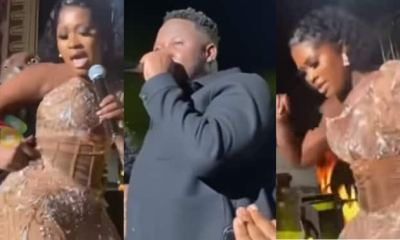 , GMAUK21: Medikal fell off from stage while grinding Fella Makafui's backside on stage, Frederick Nuetei