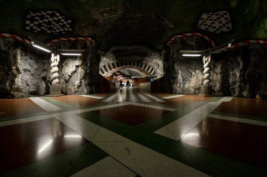 Kunstradgarden subway lines - Stockholm, Sweden