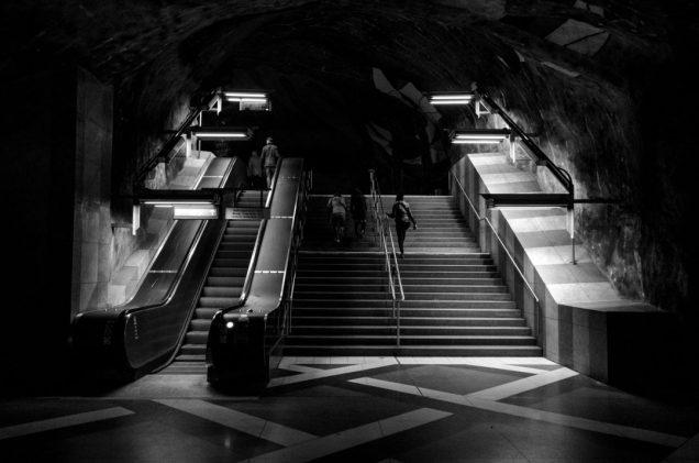 Kunstradgarden subway stairs - Stockholm, Sweden
