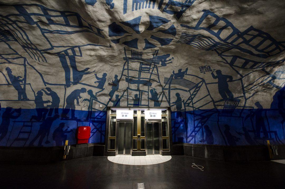 Train subway- Stockholm, Sweden