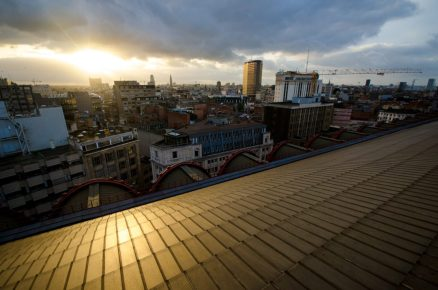 Sunset on the roof - Antwerp Central Station