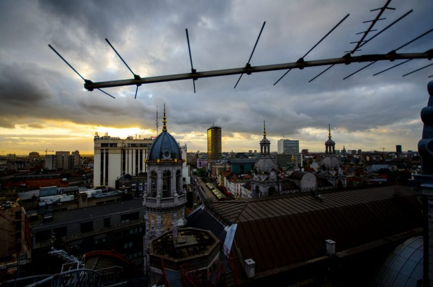 View over Antwerp - Antwerp Central Station