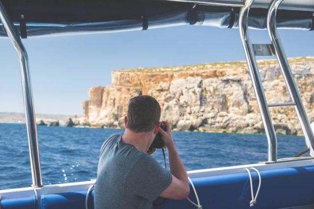 photographing on Comino, Malta